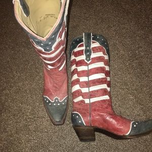 Women's Corral Flag Boots worn once!